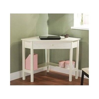 Kids Furniture Corner Desk - Furniture Corner Desk Table Wood Teen Office Nook Art Study Kids White Home Dorm