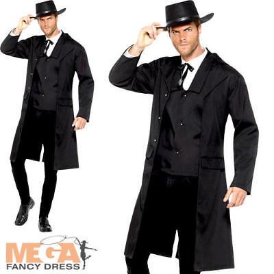 Bounty Hunter Mens Fancy Dress Wild Western Sheriff Gunslinger Adult Costume - Bounty Hunter Kostüm