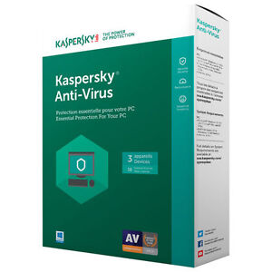 Kaspersky Anti-Virus NEW RETAIL Box 3 PC