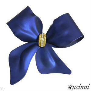 """BRAND NEW """" BOW """"  PIN WITH SWAROVSKI CRYSTALS"""