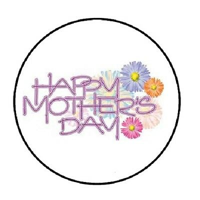 48 Happy Mothers Day #3!!!  ENVELOPE SEALS LABELS STICKERS 1.2