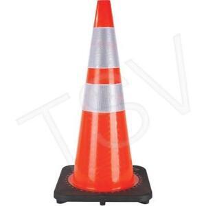 Cones orange 28 pouces avec bandes fluorescentes