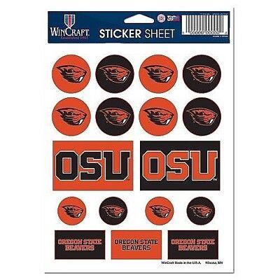 Oregon State Beavers Die (Oregon State Beavers Vinyl Die-Cut Sticker Set / Decal Sheet *Free)