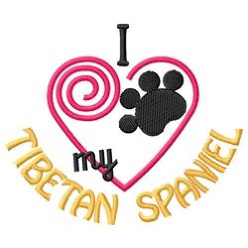 I Heart My Tibetan Spaniel Ladies Short-Sleeved T-Shirt 1348-2