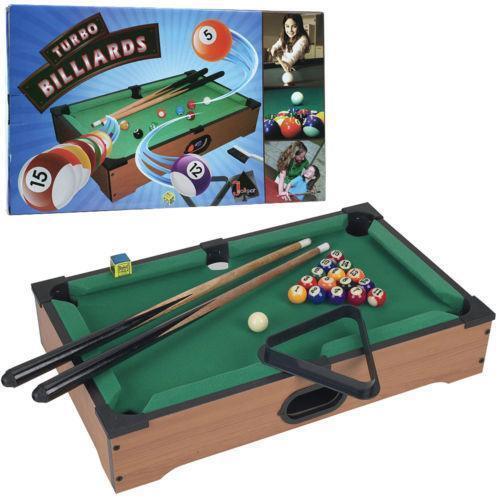 mini pool table ebay. Black Bedroom Furniture Sets. Home Design Ideas