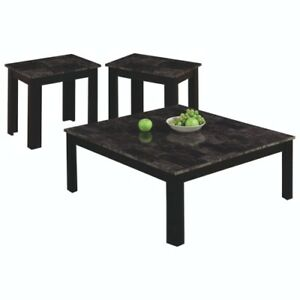 New Marble Top Coffee Table Set