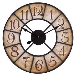 404-3440 La Crosse Clock Company 16 Decorative Analog Wood Wall Clock