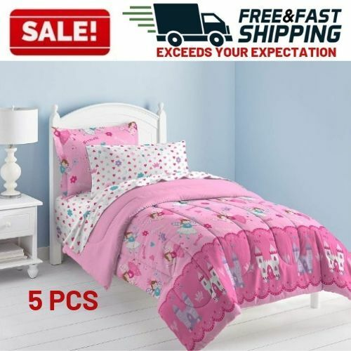 Girls Comforter Set Twin Bed Ultra Soft Microfiber Mattress