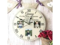 Personalised It's the little moments clock