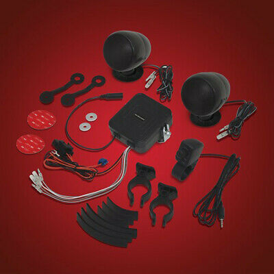 Big Bike Parts Motorcycle Sound System Black 13-250BK