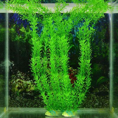 Artificial Aquarium Plastic Fake Green Grass Plant Fish Tank Decorations Sanwood