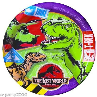 ORLD LARGE PLATES (8) ~ Birthday Party Supplies Dinner Lunch (Jurassic Park Party Supplies)