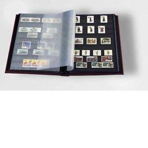 LEUCHTTURM-CLASSIFICATORE-A4-16-PAGINE-32-FACCIATE-NERE-LISTELLI-IN-ACRILICO