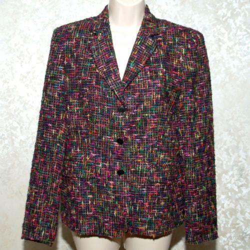 Womens Tweed Blazer Ebay