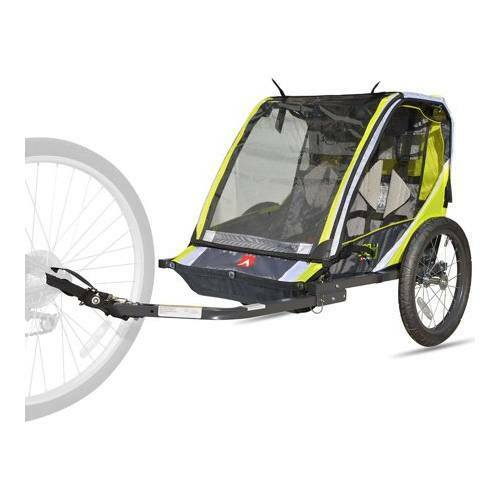 Kids Bike Trailer Child Attachment Bicycle Best Cart Wagon Carrier Double 2 Seat