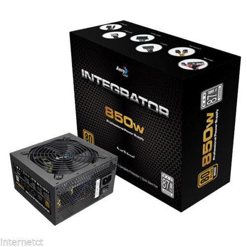 AEROCOOL 850W INTEGRATOR 80 PLUS ATX 8 PIN DUAL PCI-E POWER SUPPLY UNIT
