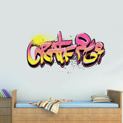 Full Color Wall Decal Sticker Like Painting Graffiti Words Quote Sign (Col698) (Vinyl Paint Remover)