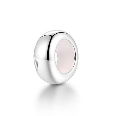 Schlichte Stopper Anhängerkugel für Armband 925 Sterlingsilber Charm Perle