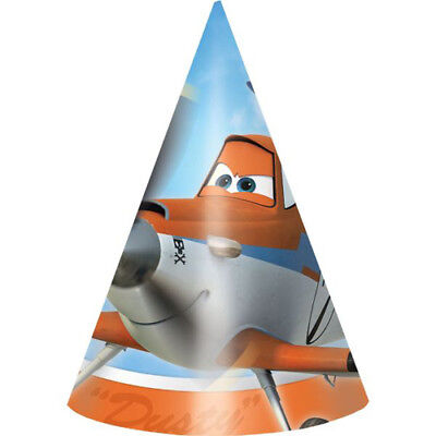 DISNEY PLANES CONE HATS (8) ~ Birthday Party Supplies Favors Dusty Crophopper - Dusty Party Supplies