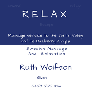 Relax Swedish Massage & Relaxation Silvan Yarra Ranges Preview