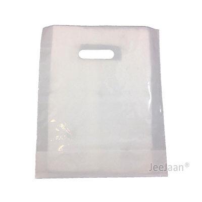200 White Plastic Carrier Bags 10