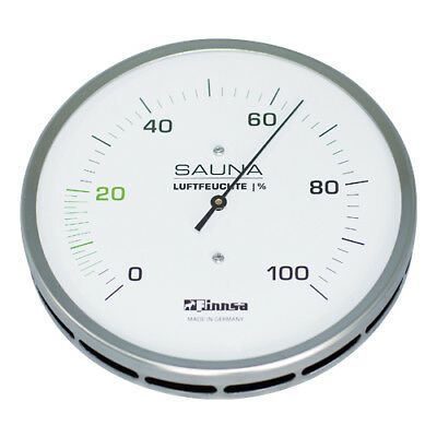Sauna Hygrometer measurement humidity 130mm from stainless steel