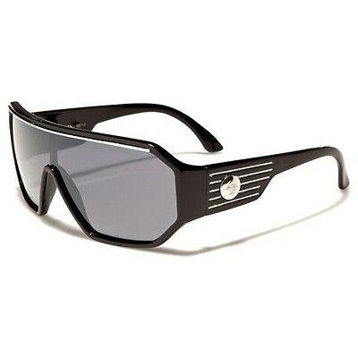 Retro Goggle Style Biohazard Shield Black Mens Celebrity Fashion (Mens Celebrity Fashion)