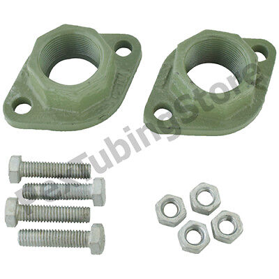 1-14 Npt Cast Iron Universal Circulator Pump Flange Pair Taco Grundfos Bg