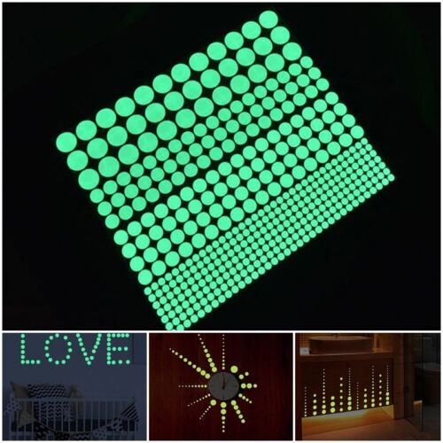 407pcs Glow In The Dark Star Round Dot Luminous Wall Stickers Home Ceiling Decor
