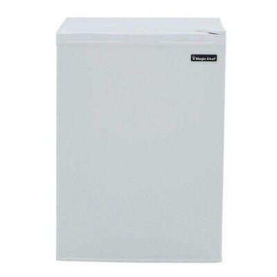 Mini Refrigerator 2.6 Cu Ft White Small Fridge Freezer Compact Dorm Office Room