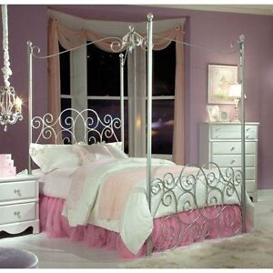 Girl's Princess Canopy (Twin) Bed - by Standard Furniture Inc Cambridge Kitchener Area image 1