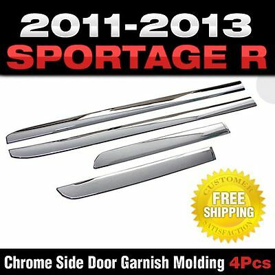 Chrome Side Door Skirt Accent Garnish Molding For KIA 2011 - 2015 Sportage R