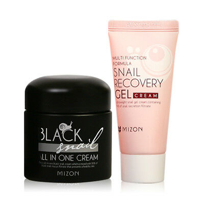 [Mizon] Black Snail All In One Cream 75ml+Snail Recovery Gel Cream 45ml