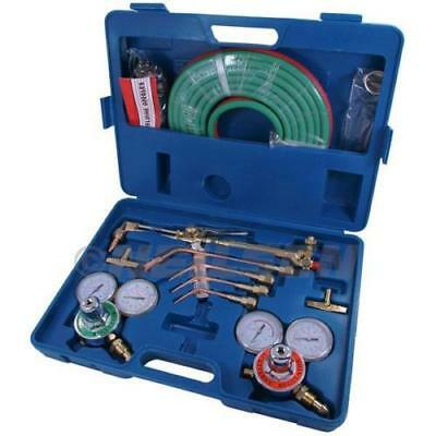 OXY ACETYLENE GAS WELDING CUTTING KIT SET OXYGEN REGULATOR TORCH SET CT2317