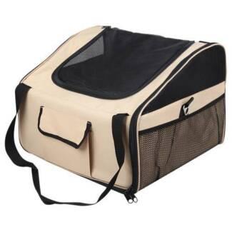 AUS FREE DEL-Large Beige Pet Dog Cat Car Seat Carrier Travel Bag