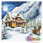 Crystal Art kit Xmas House 30 x 30 cm