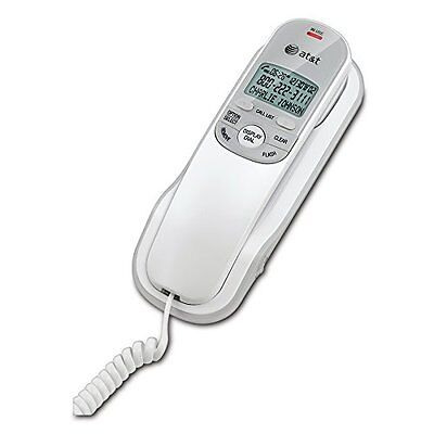 AT&T Corded Phone with Caller ID & Call Waiting Trimline Home Desk Wall White