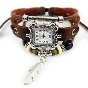 Ladies Brown Leather Watch