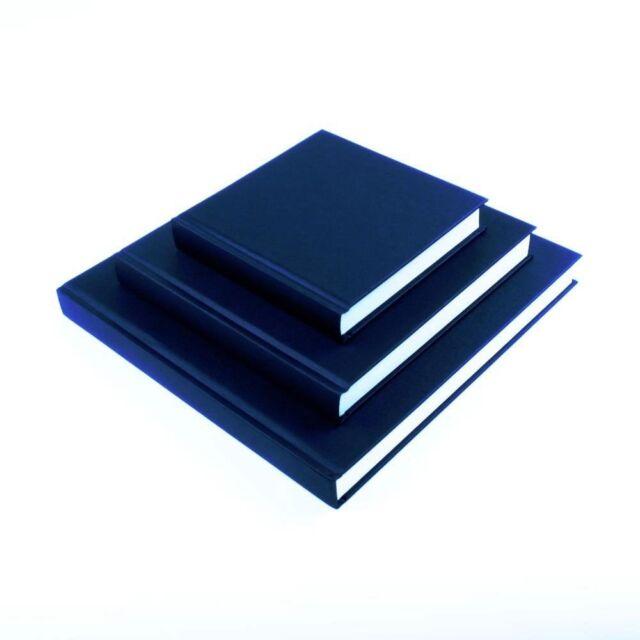 SEAWHITE Black Cloth Hardback Artists Sketchbook 140gsm Square 195X195 Brand New