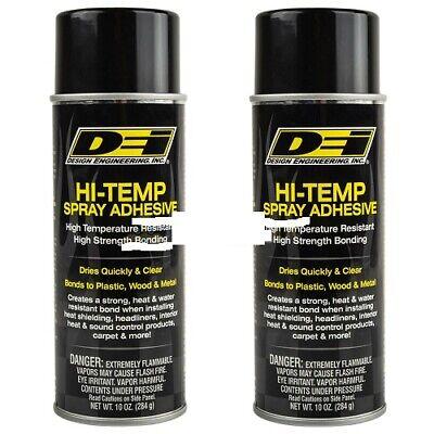 Dei 2 Pk Hi Temp Spray Adhesive 10oz Can Headliner Glue Upholstery Highstrength