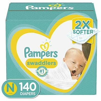 Pampers Newborn/Size 0 (< 10 lb), 140 Count Swaddlers Disposable Baby Diapers 🔱