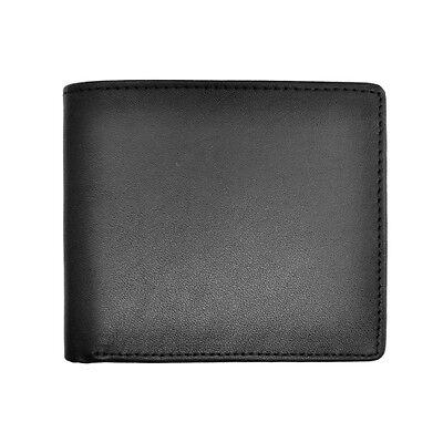 Royce Leather Black Men's Bifold Credit Card Wallet in Leather