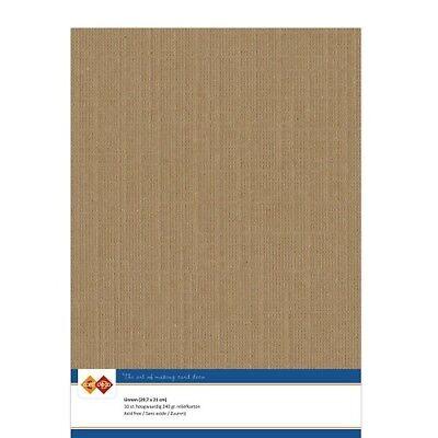(EUR 4,81/m²) Leinenkarton 10xA4-Bogen kaffeebraun 12