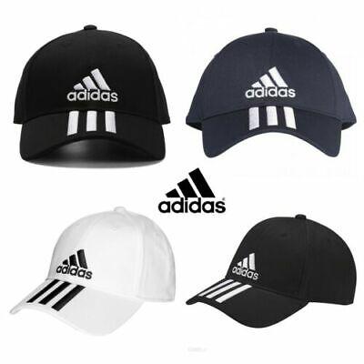 Adidas 6 Panel 3 Stripes Mens Baseball Cap Sports Golf Adjustable Cotton Hats