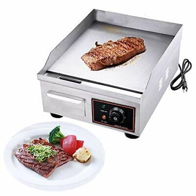 1500w 14 Commercial Electric Countertop Griddle Grill Stainless Steel Restaura