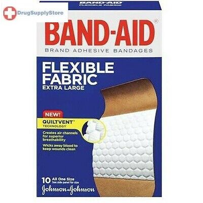 Band-Aid(R) Brand Flexible Fabric Extra-Large Bandages, Box Of 10 ()