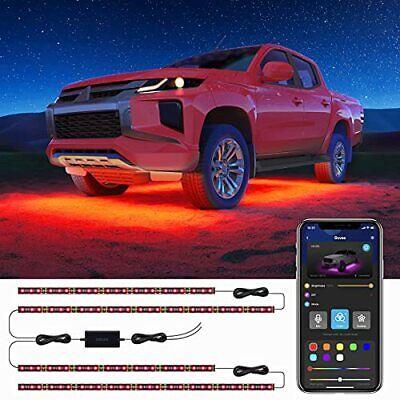 Govee Exterior Car Lights with App Control 2 Lines Design Under LED Lights fo...