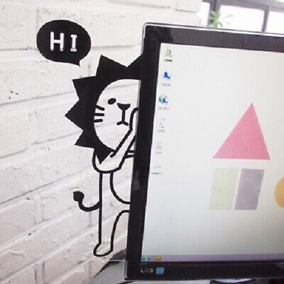 Computer Monitor Screen Transparent Memo Board Sticky Notes Poster Stand Gifts