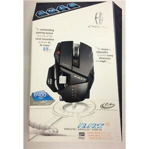 Cyborg 9 R.A.T. Laser Mad Catz Gaming Mouse for PC & MAC RAT 9 6400 DPI