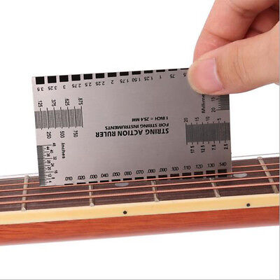 Acto de cuerda Gauge Reglas Guía Configuración Guitarra Bajo Eléctrico Medic*ws